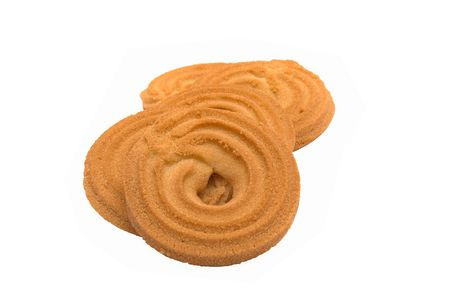 isolated, white, background, biscuit, cookie