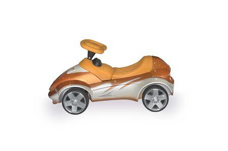 isolated, white, background, car, toy