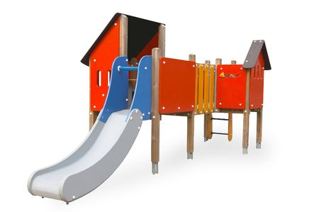 isolated, white, background, kindergarten, playground Stock Photo