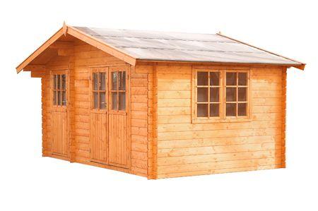 whitw: isolated, whitw, background, blockhouse, gardenhouse