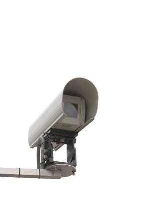 security camera, isolated, white, background Stock Photo