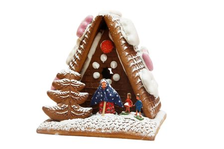 a gingerbreadhouse is on white
