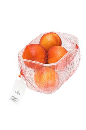 peaches packed in a plastic container  Stock Photo - 3830426