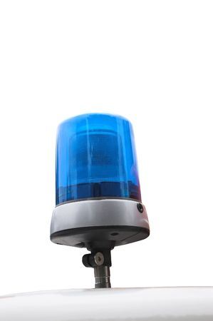 a blue signal lamp on white Stock Photo
