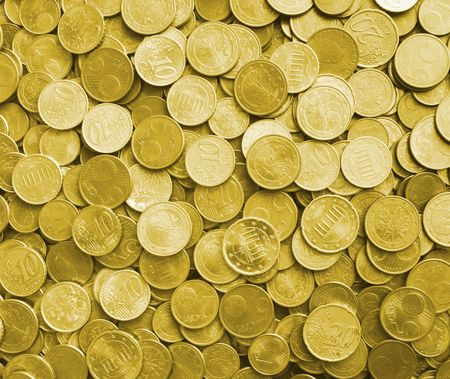 gold coins are as a background