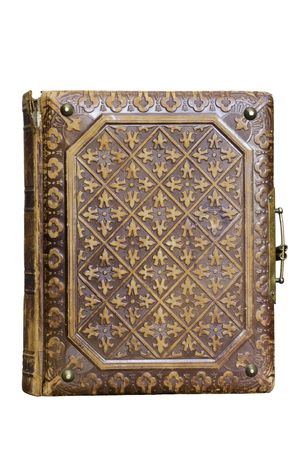 antiquarian: an old book is on white background