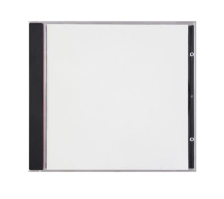 box for disk with blank cover is on white Stock Photo