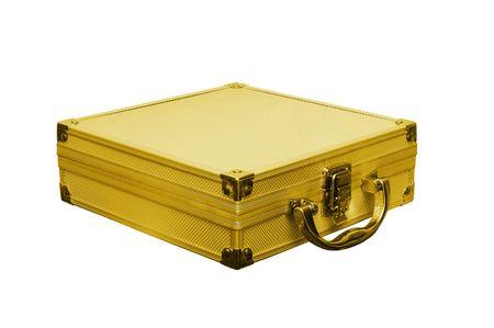tresure: gold case is on white