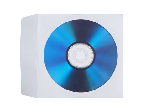 disk is in the envelope on white Stock Photo