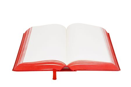 open blank book is on white background Stock Photo