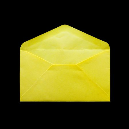 yellow envelope is on white background
