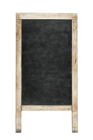 blank black board is on white background
