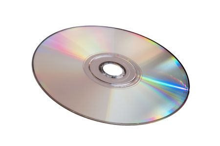 disk is on the white background Stock Photo