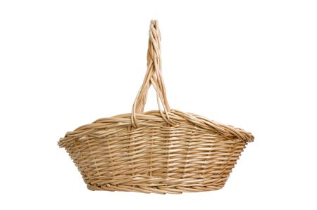 basket is on white background