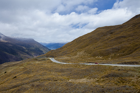 on the lonely road: lonely road to Queenstown
