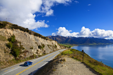 road trip: road trip in New Zealand Stock Photo