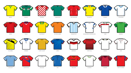 Soccer jersey icons Vector