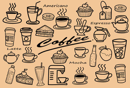 Set of linear icons for coffeeshop.Vector Line Icons. Editable Stroke.