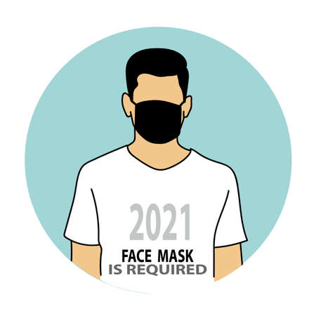 Face Mask must be worn sign, wearing mask for prevention. healthy concept Vecteurs