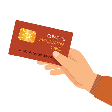 Vaccination card during Covid-19 to travel without problem. Flat style Vector Illustration Ilustração Vetorial