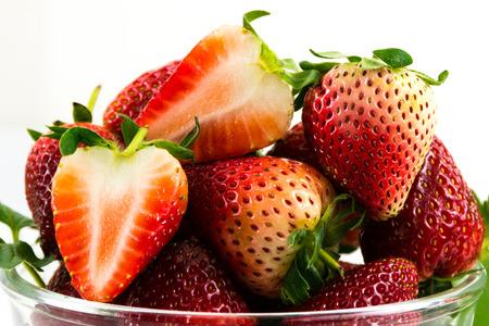 srawberries:  Sliced strawberry Stock Photo