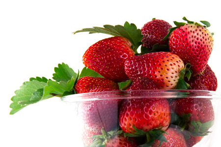 srawberries: strawberry  on cup