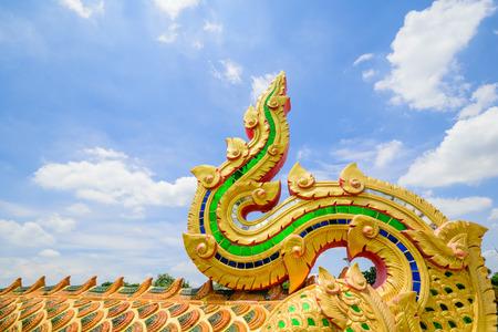 naga china: king of Naga statue, Serpent head statue
