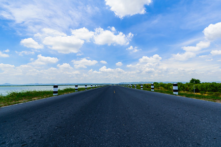 Way success, the countryside and the beautiful sky photo