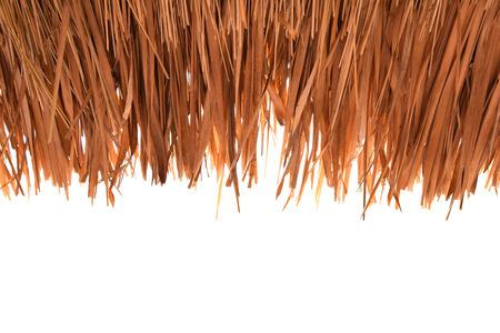 草屋根、茅葺き、背景白い背景素材に