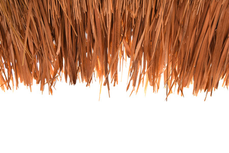 Grass roofs ,Thatched,on  Background  white background cutout  Stock Photo