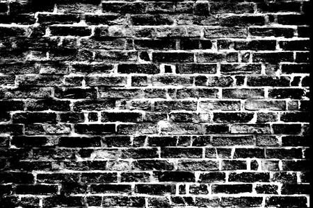 Black old  brick wall texture Background photo