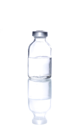 Glass Medicine Vial  for Injecting medicine on a white background