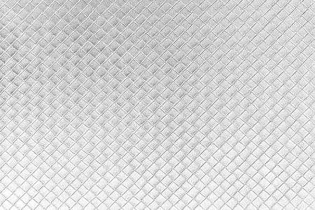 Silver square fabric texture  Stock Photo