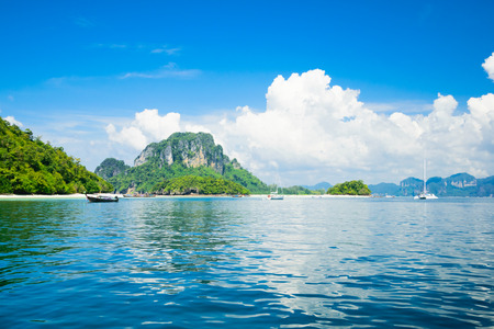 ao: Mu Koh Poda or Poda Group Islands is located in the west of Ao Nang.   Andaman Sea of Thailand