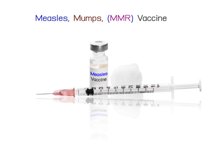 measles: Measles, Mumps, (MMR) Vaccine with needle