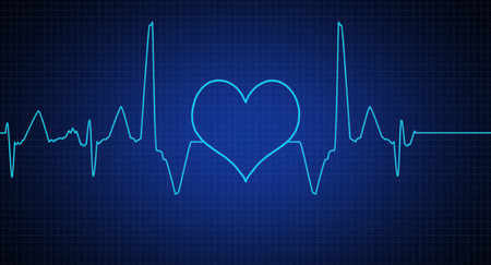heart ecg trace: Abstract heart beats cardiogram,EKG Stock Photo