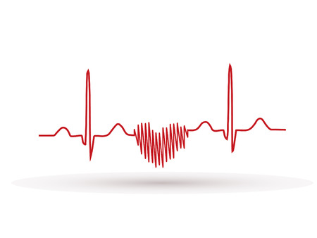 Heartbeat , Frequency, Wave Heart Фото со стока