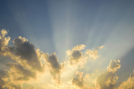 sunligh: Beautiful Soft Sunset Sky and Beams of sunligh Background