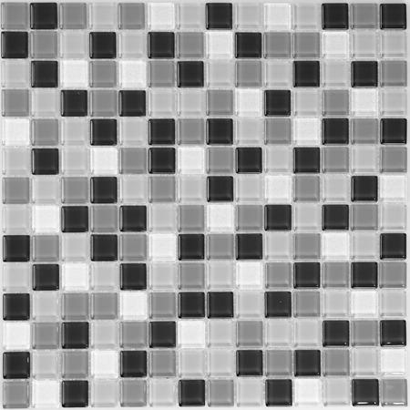 flagstone: dark light glass mosaic in the bathroom