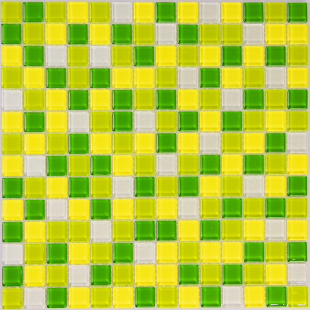 lime green: Lime green glass mosaic tiles  in the bathroom for background Stock Photo