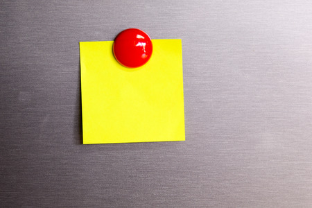 Blank Post it Note   On The refrigerator copy space (for you text)