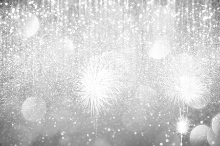 Abstract silver  lights on background Archivio Fotografico