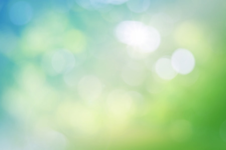 blue and white: Green nature colorful abstract background