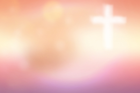 risen christ: Abstract blurred textured background with cross