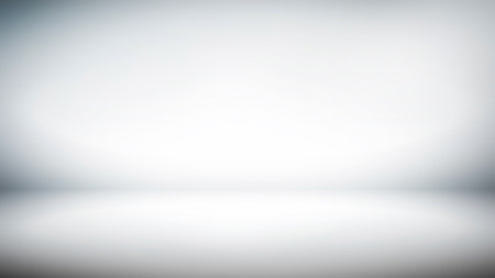 Abstract white gradient background for creative widescreen backdrop (16:9) Stock Photo