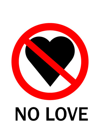 lovelorn: No love sign (Reasons For Falling Out Of Love)
