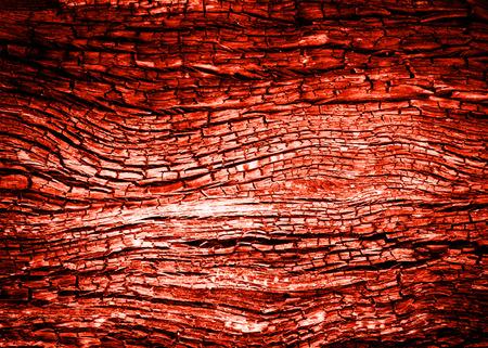 quemadura: rojo resumen Charcoa la madera arda la textura Foto de archivo