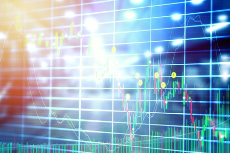 Abstract blurred stock market concept for background