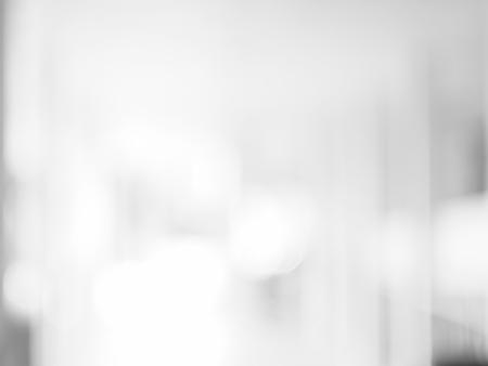 Bandera blanca del fondo del extracto de la falta de definición Luces borrosas brillantes de la Navidad blanca de Bokeh de la pantalla, fondo de la Navidad.