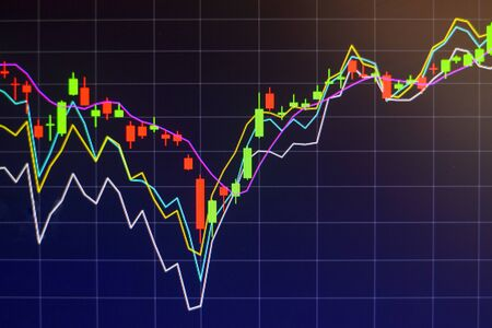 Stock market graph chart investment trading stock exchange trading market monitor screen